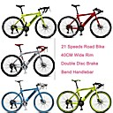 700c montó bicicleta Rockefeller ™ 21 velocidades de 40 mm de ancho llanta freno de doble disco de 70 radios rueda pinchada curva del manillar