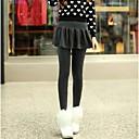 algodón plisado falda péndulo falsos dos culottes de las mujeres usan polainas