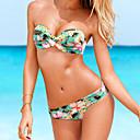 atractivo empuja hacia arriba el traje de baño bikini playa conjunto floral de las mujeres de las mujeres qearl