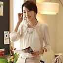 blusas de la gasa más tamaño coreano M5U de las mujeres