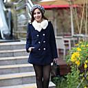 kate sólo abrigo de manga larga de algodón de las mujeres