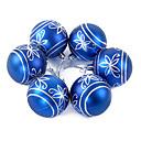 adornos de navidad bola con el patrón de flor azul, de plástico