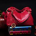 VENCHY European Fashion Crocodile Pattern Handbag  10024 Black,Blue,Red