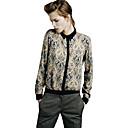 camisa de manga larga de las mujeres joetina europeo clásico geométrico estampado floral