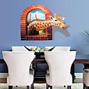 3D Wall Stickers Wall Decals, Dull Polish Giraffe PVC Wall Stickers