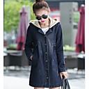 abrigo de mezclilla con capucha de las mujeres laisily