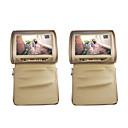 """9 jugador """"apoyo para la cabeza de pantalla táctil slot-in DVD del coche con transmisor FM / IR / USB / SD y la cubierta de la cremallera (1 par)"""