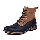 botas botas de combate de los hombres zapatos de tacón bajo de cuero mitad de la pantorrilla más colores disponibles