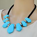 azul de moda collar geométrico a13 de la mujer ovish