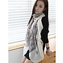 Womens Large Sunflower Voile Scarves