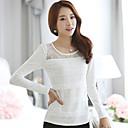 Loria Womens Round Neck Lace Korean Style T-Shirt