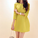 Soho Womens All-matched Slim Round Collar 3/4 Sleeve Dress