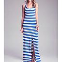 Dresss Womens Sexy Split Stripe Dress BP1027