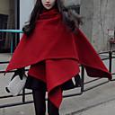 de manga larga abrigos de tweed causual manera delgada de la mujer Muyan
