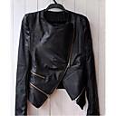 abrigo de cuero chaqueta de cuero de la PU de todo juego de Milu mujeres