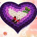 100 rosa de cuatro colores gradiente doble mariposa de aceite esencial de rosa de la flor del jabón para el cuerpo