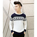 Mens Thick  Animal  Print Cotton  Sweaters
