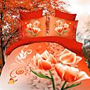 maison 12d ropa de cama de la impresión floral de cuatro piezas con pulsera de perlas gratis