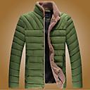 color sólido de los hombres de todas correspondan abrigo de algodón amueblada térmica