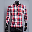 camisa de manga larga de verificación bromista de la manera Luoyi