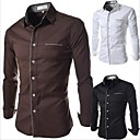 EDND   2014 mens Korean cultivating long sleeved bottoming shirt placket match Long Sleeve Shirt   5033/1399