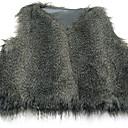 elegante chaleco de color sólido de piel