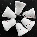 12 piezas blanca nieve campanas de navidad el árbol de Navidad ornamento de decoración de árboles de navidad