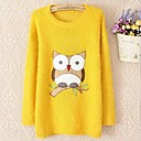 Women's Mohair  Round Collar Pullover Long Sleeve Sweaters (More Colors)