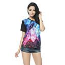 Weige chica galaxia impresión camiseta ST006 de las mujeres
