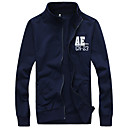 Brother Embroidery All-matched Long Sleeve Cardigan Coat  584(Black,Navy Blue,Wine,Gray)