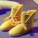 color sólido botas de nieve arco lindo de la mujer Feicai