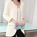 YDW Womens Fashion Knit Cardigan Long Coat SV009256 Cream