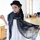 2014 nueva bufanda de invierno versión coreana de las mujeres de la bufanda de gasa suide b08 08 azul profundo