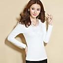 Belon de invierno de las mujeres 2014 nuevo encaje causal delgado de la manera camiseta