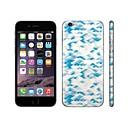 SKINAT 3M soft skin for iPhone 6(hide logo) sticker back decals sticker set cute blue wheat 1mobile phone stickers