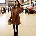 Womens Lapel Fashion Loose Wool Jackets