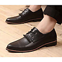 Mens Shoes Pointed Toe Low Heel Faux Leather Oxfords Shoes More Colors available