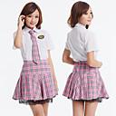 niña de la escuela de poliéster de color rosa melodía de vestuario (3 piezas)