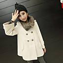 elegante abrigo de capa doble de pecho de MASA mujeres