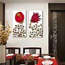 abstractas impresión de lienzo personalizado las flores rojas 30x 60cm 40x80cm conjunto lienzo de pintura enmarcado de 2