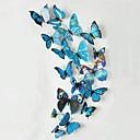 12pcs hermosa mariposa multicolor pegatinas estéreo