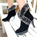 Womens Stiletto Heel Round Toe Boots (More Colors)