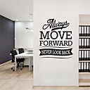 JiuBai Inspiration Quote Wall Sticker Wall Decal, 58M64CM