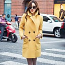 HDXS Womans Lapel Slim Ol Wool Tweed Outwear