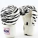 completo del dedo guantes de boxeo de cuero de tigre vestir withe (tamaño medio)