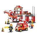 bloques de construcción de alarma contra incendios juguetes educativos