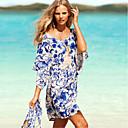 nueva causal de la moda de trajes de baño vestido de la playa de la impresión floral