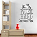 JiuBai Inspiration Quote Wall Sticker Wall Decal
