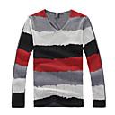 camisa de la raya de la moda cuello v de MRPK hombres 267