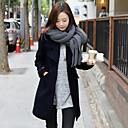 ajuste holgado abrigo de tweed causual de la mujer Weishang